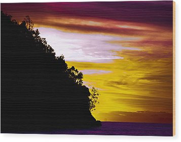 Bali Veiw Wood Print by Terry Cosgrave