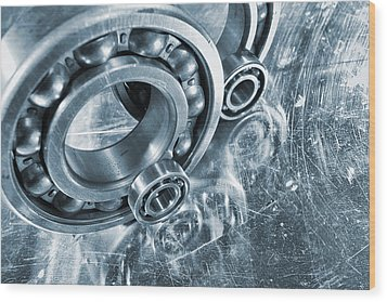 Ball Bearings And Engineering Wood Print