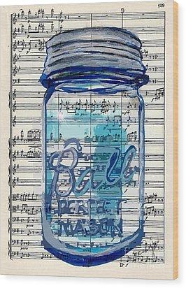 Ball Jar Classical  #129 Wood Print by Ecinja Art Works