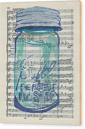 Wood Print featuring the painting Ball Jar Classical  #132 by Ecinja Art Works