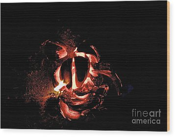 Ball Of Fire Wood Print by Bobby Mandal