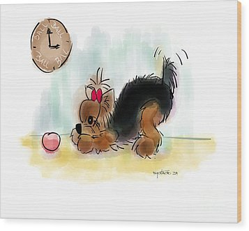 Ball Time Wood Print