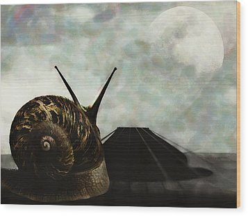 Wood Print featuring the digital art Ballad by Galen Valle