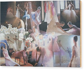 Ballarina Beauty - Sold Wood Print by Judith Espinoza