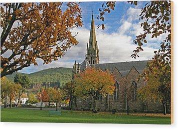 Ballater Church Wood Print