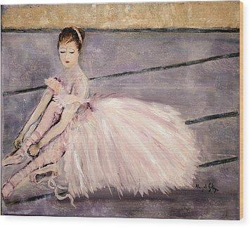 Ballerina Wood Print by Aleezah Selinger