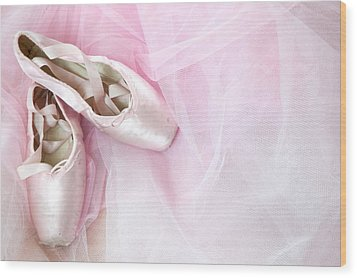 Ballerina Dreams Wood Print by Zina Zinchik