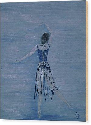 Ballerina Wood Print by Inge Lewis