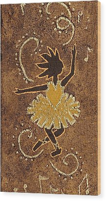 Ballerina Wood Print by Katherine Young-Beck