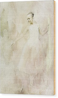 Wood Print featuring the painting Ballerina by Linda Blair