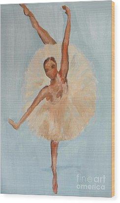 Ballerina Wood Print by Marisela Mungia