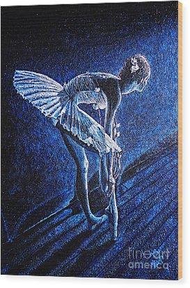 Ballerina Wood Print by Viktor Lazarev