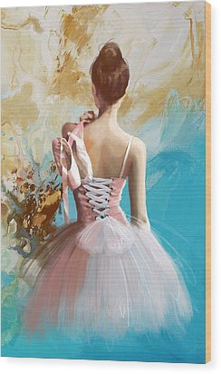 Ballerina's Back  Wood Print by Corporate Art Task Force