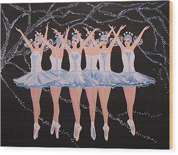 Ballerinas Wood Print