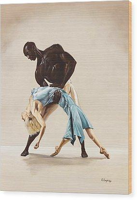 Ballet 1  Wood Print by Karen  Loughridge KLArt