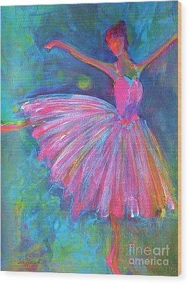 Ballet Bliss Wood Print by Deb Magelssen