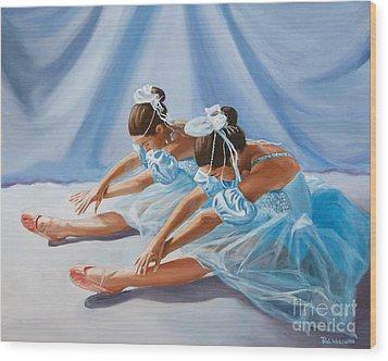Ballet Dancers Wood Print by Paul Walsh