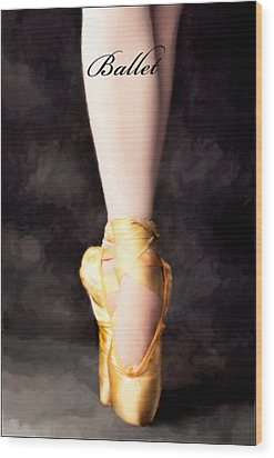 Ballet Wood Print by David Perry Lawrence