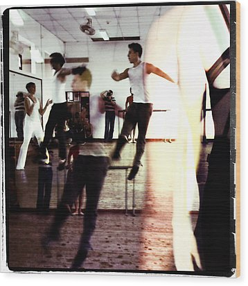 Ballet Doble Wood Print by Ann Tracy