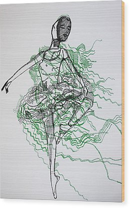 Ballet Wood Print by Gloria Ssali