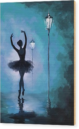 Ballet In The Night  Wood Print by Corporate Art Task Force