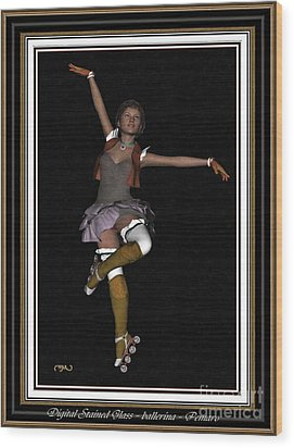 Ballet On Skates 1bos2 Wood Print by Pemaro