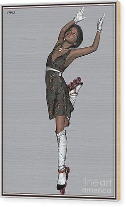 Ballet On Skates 2bos1 Wood Print by Pemaro