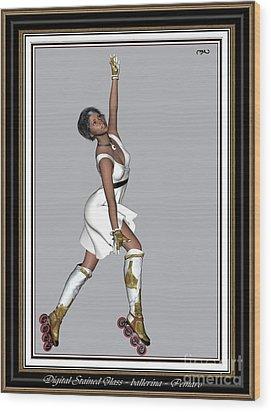 Ballet On Skates 5bos2 Wood Print by Pemaro