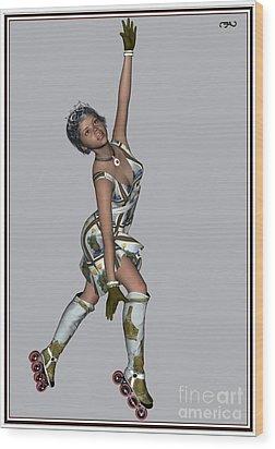 Ballet On Skates 7bos1 Wood Print by Pemaro