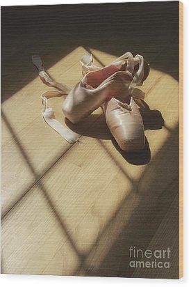 Ballet Slippers Wood Print by Diane Diederich