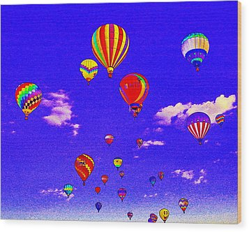 Ballon Race Wood Print by Mustafa Abdullah
