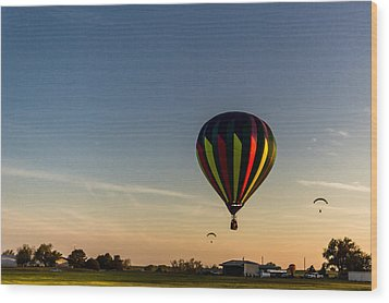 Wood Print featuring the photograph Balloon 8 by Jay Stockhaus