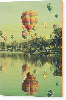 Balloon Classic Wood Print by Michelle Frizzell-Thompson