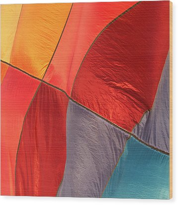 Balloon Colors Wood Print by Art Block Collections