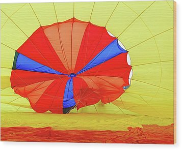 Wood Print featuring the photograph Balloon Fantasy   1 by Allen Beatty