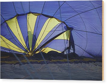 Wood Print featuring the photograph Balloon Fantasy 4 by Allen Beatty