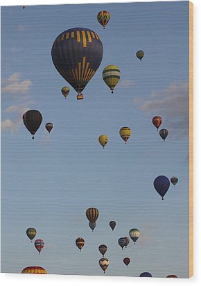 Balloon Festival Wood Print by Mustafa Abdullah