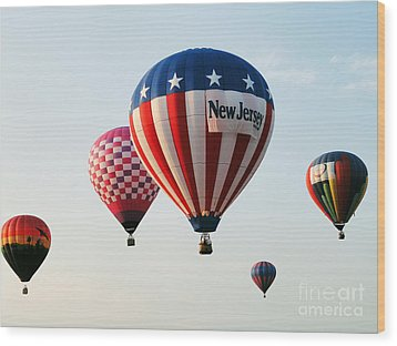 Balloon Festival Wood Print