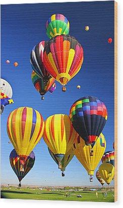 Balloon Grouping Wood Print by Joe Myeress
