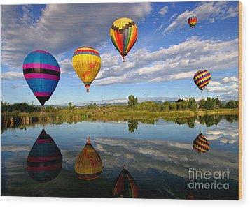 Balloon Horizon Wood Print