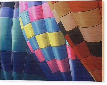Wood Print featuring the photograph Balloon Patterns by Rodney Lee Williams