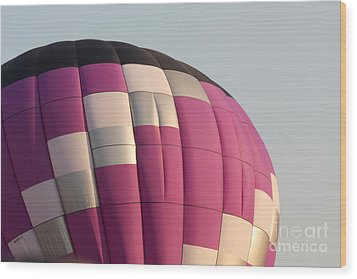 Balloon-purple-7457 Wood Print by Gary Gingrich Galleries