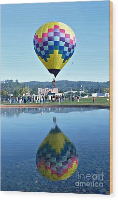 Wood Print featuring the photograph Balloon Ride  by Mindy Bench