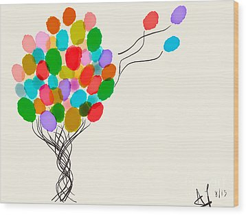 Balloons For Sale Wood Print by Anita Lewis