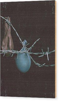 Balloons Wood Print by Joana Kruse