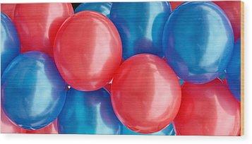 Balloons Wood Print by Tom Gowanlock
