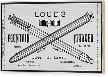 Ballpoint Pen, 1888 Wood Print by Granger