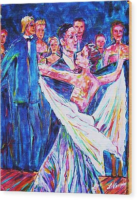 Ballroom Compitition Wood Print by Linda Vaughon
