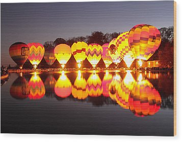 Wood Print featuring the photograph Balluminaria by Cathy Donohoue