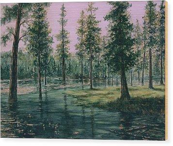 Balm Creek Reflections Wood Print